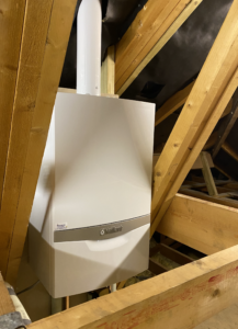 vaillant system boiler in loft